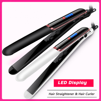 100-240V Professional Hair Straightener Curling Iron Electric Ceramic Flat Iron Hair Curler PTC Crimper Iron Hair Styling Tools 1
