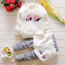 Осенне зимняя одежда для маленьких девочек хлопковый топ с рисунком