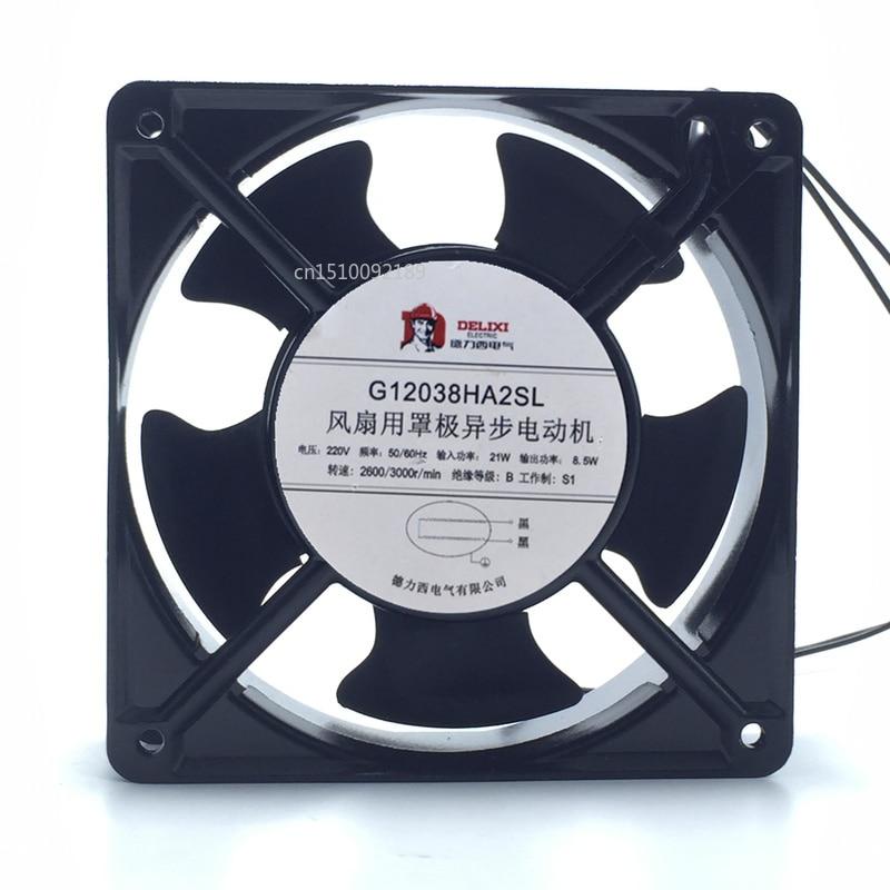 For Original Delixi G12038HA2SL 220V 21W/8.5W 120*120*38MM Cabinet Cooling Fan Free Shipping