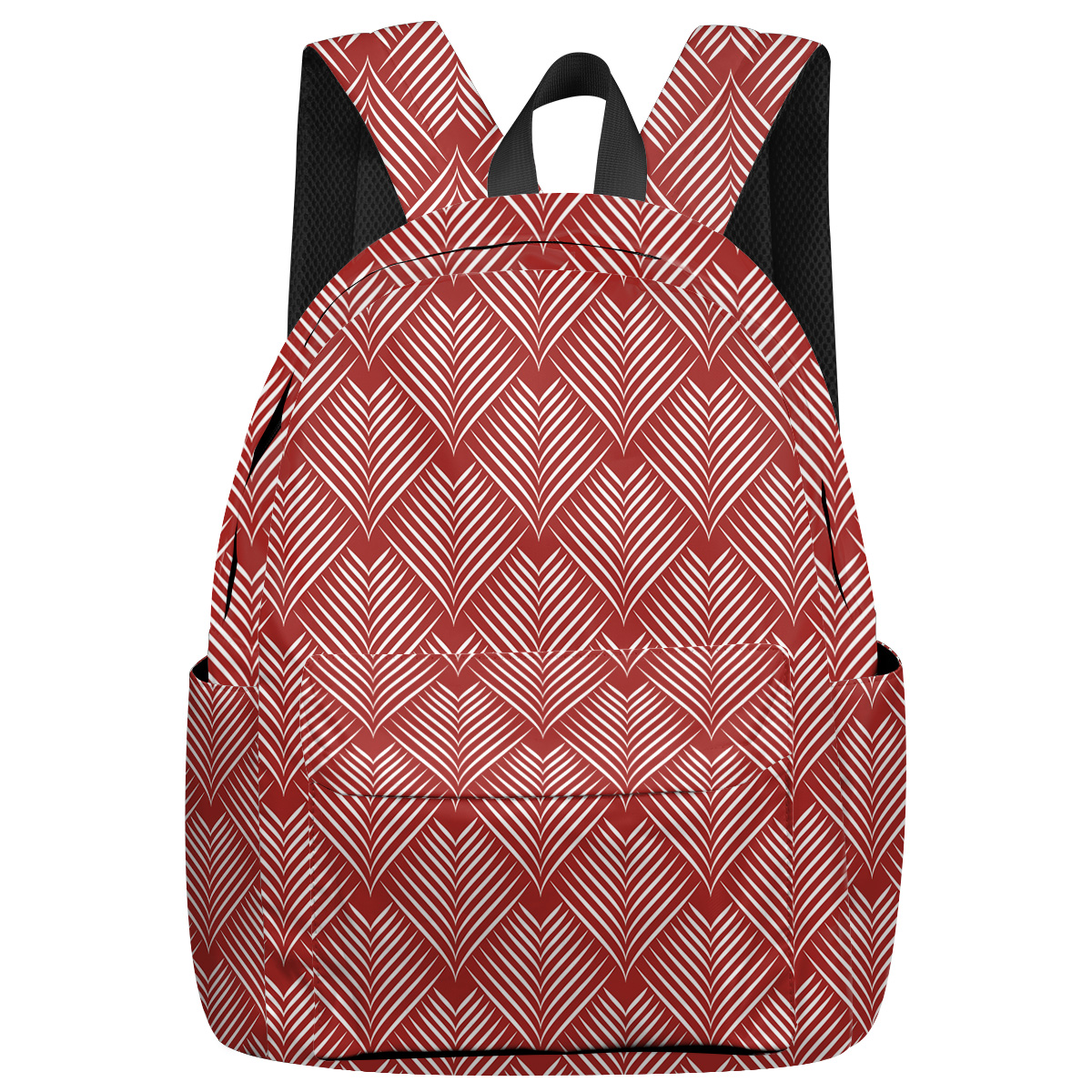 A Herringbone International Airplane Travel Night Light Reflective Tactical Backpacks Shoes Compartment College Backpacks