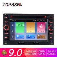 TOPBSNA 2 din Android 9.0 Car GPS Radio For Volkswagen Passat B5 Bora Polo GOLF MK3 Mk4 TRANSPORTER T5 Autoradio GPS Navi WIFI