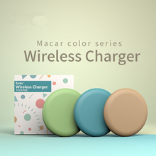Macaron color Wireless Charger For AirPod for Samsung Galaxy S9/S9+ S8 S7 Edge USB Qi Charging Pad for iPhone XS Max XR X IY129