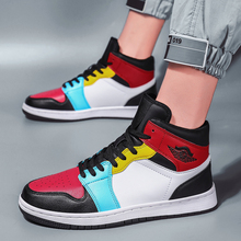 Men Brand High Top Leather Superstar Fashion Sneakers Men Casual Shoes Male Flats Boots Rubber Mens Designer Shoes Walking Black lttl red men shoe fashion leather sneakers men breathable lace up high top designer shoes luxury brand mens shoes casual flats