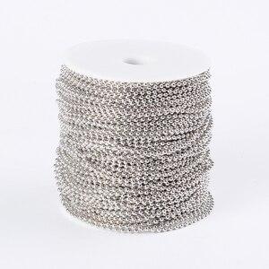Image 1 - Pandahall 100 M/ม้วนเหล็ก Unwelded ลูกปัดโซ่สำหรับ DIY เครื่องประดับทำสร้อยคอสร้อยข้อมือ come On Reel,ลูกปัด: 2.4 มม.F80