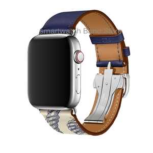 Image 3 - For Apple Watch 6 Band Strap 5 4 3 2 1 44mm 40mm 42mm 38mm Genuine Leather with Herm Logo Bracelet for iWatch Bands Accessories