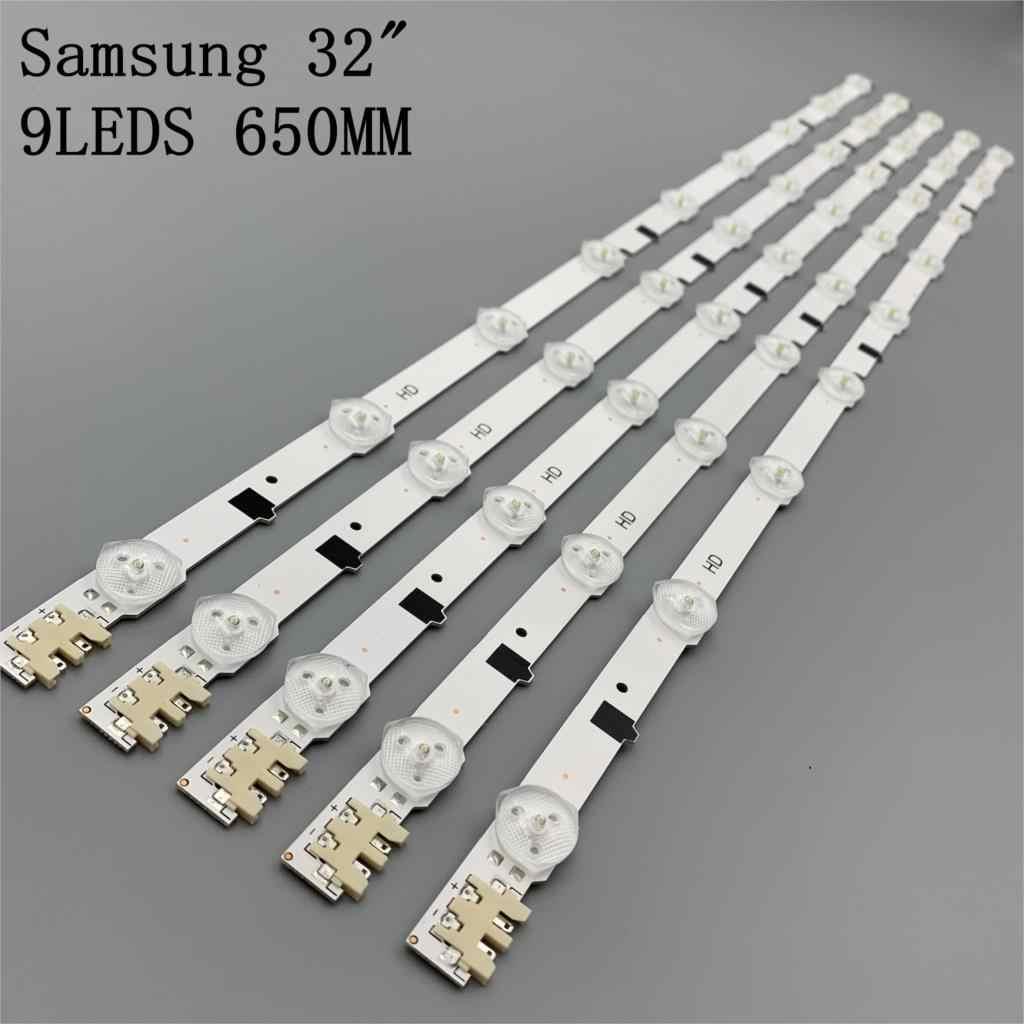 Nieuwe Kit 5 Stuks 9 Leds 650Mm Led Strip Voor Samsung UE32F5300 D2GE-320SC0-R3 2013SVS32H BN96-25300A 26508B 26508A BN96-25299A