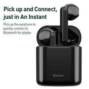 Image 2 - Baseus TWS سماعة لاسلكية تعمل بالبلوتوث سماعة ذكية تعمل باللمس التحكم اللاسلكية TWS سماعات مع ستيريو باس الصوت الذكية الاتصال