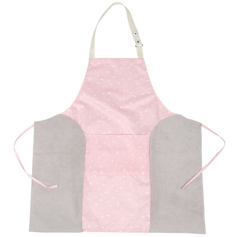 Solid Color Adjustable Kitchen Apron Printed Pocket Buckle Side Hand Towel Sleeveless Waterproof Aprons for Cooking Men Women Ho|Aprons| |  - title=