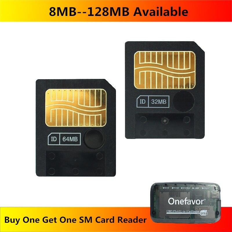 Sm 8mb 16mb 32mb 64mb cartão de memória 128mb cartão de mídia inteligente com leitor de cartão sm livre