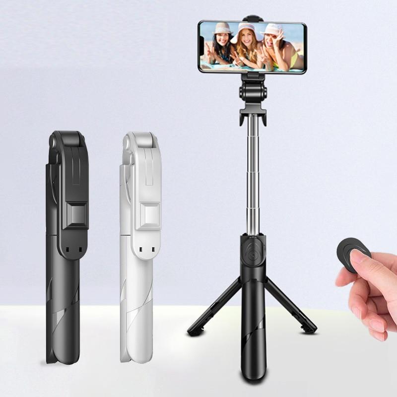 Селфи-палка Xt02 с Bluetooth, вращающийся на 360 ° держатель для телефона, выдвижной портативный многофункциональный штатив