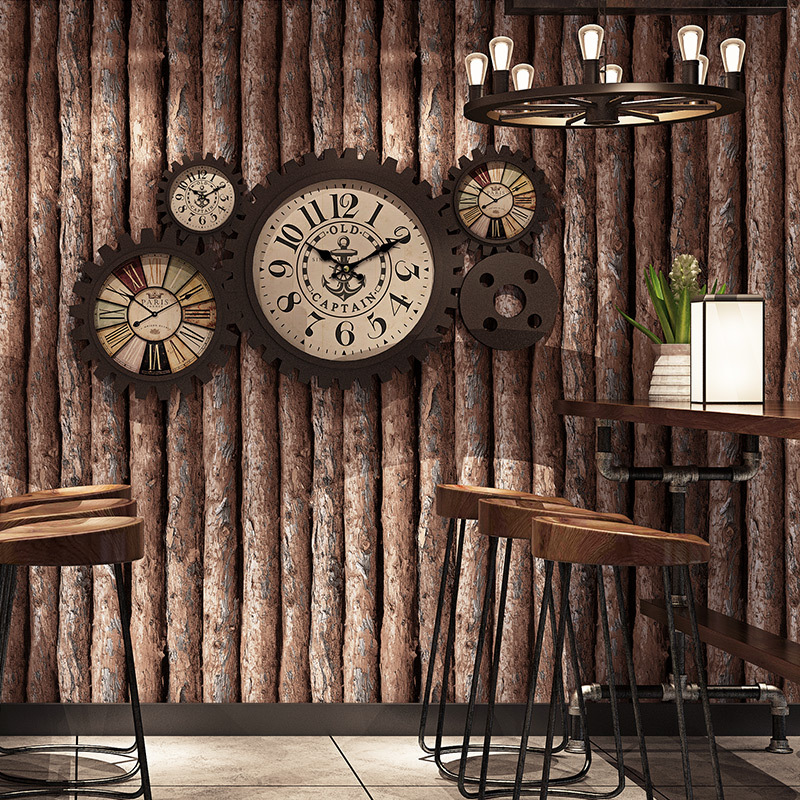 Retro Nostalgic 3D Model Board Clothing Wallpaper Chinese Style Restaurant Hotel Wood Grain Hotpot Restaurant Background Wallpap