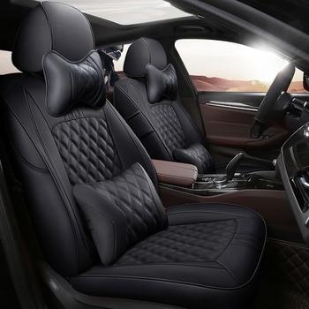 custom cowhide car seat cover for Toyota FJ Cruiser Corolla Prius Venza Land Cruiser Prado RAV4 86 Camry car accessories styling