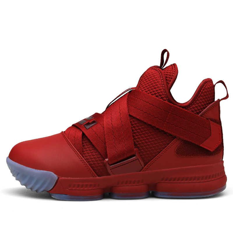 Marka erkek yüksek top ürdün basketbol ayakkabıları erkek yastıklama ışık basketbol ayakkabı Anti-skid nefes açık spor ayakkabı