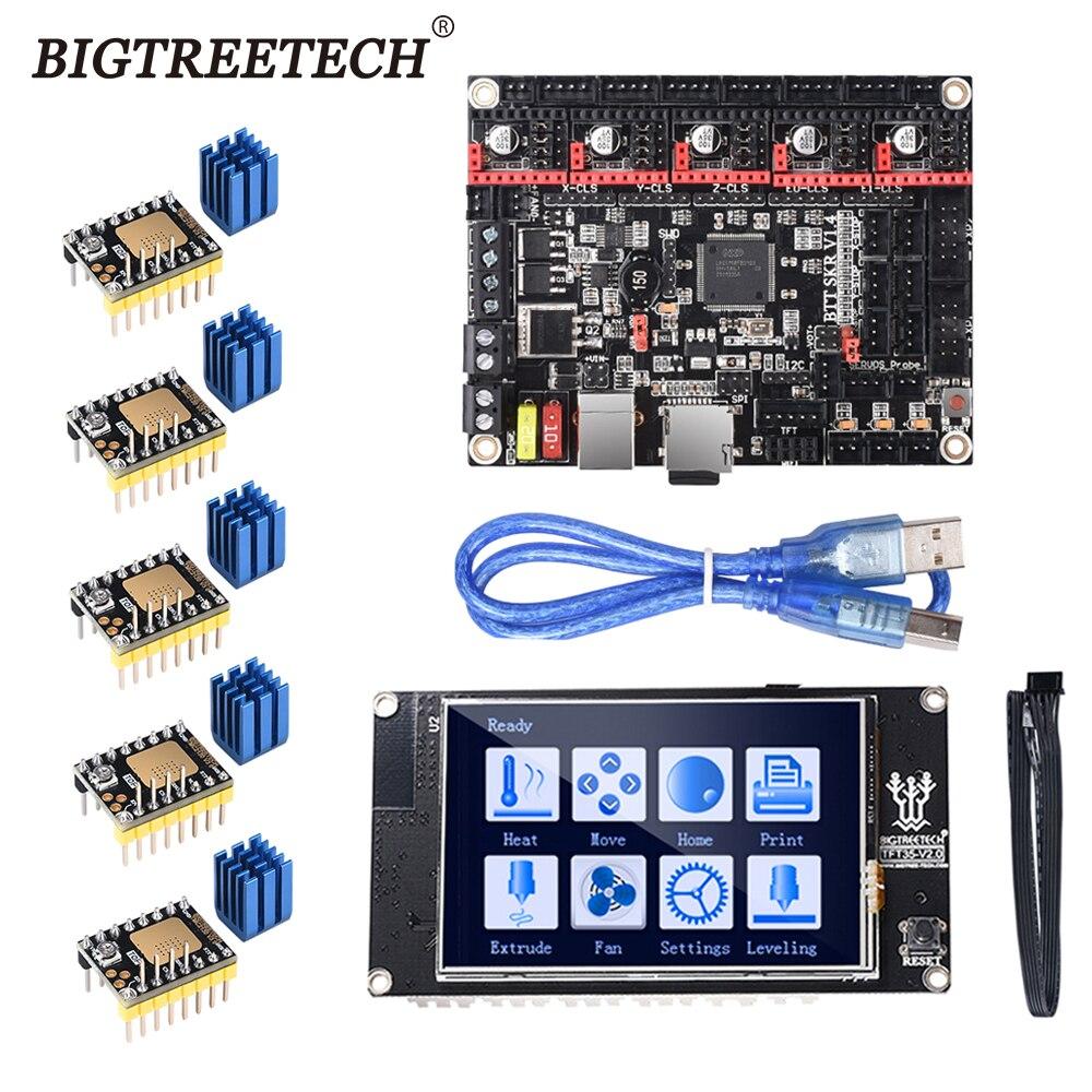 BIGTREETECH BTT SKR V1.4 SKR V1.4 Turbo Board TFT35 V2.0 Touch Screen 5PCS TMC2209 TMC2130 Stepper Motor Driver 3d Printer Parts