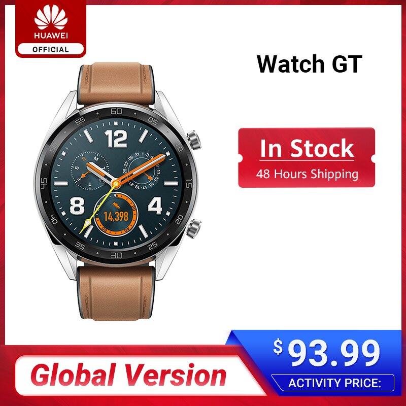 Global Version HUAWEI Watch GT Smart Watch 1.39'' AMOLED Screen 14 Days Battery Life 5ATM Waterproof Heart Rate Tracker