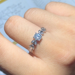 Image 5 - Neue Produkt Förderung Moissanite 0.5ct Härte 9,3, diamant ersatz, können getestet werden durch instrumente. Beliebte schmuck