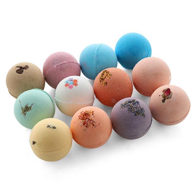 4/12pcs Bath Bombs Shower Salt Ball Bubble Skin Whiten Stress Moisturizing Exfoliating Body Scrub Cleaner Essential Oil Spa