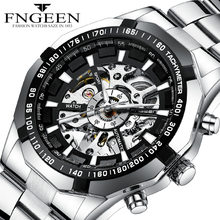 FNGEEN Driver Watch Sport Mechanical Watches For Men Luminous Waterproof Business Precise Measuring Time Automatic Wrist Clock(China)