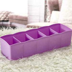 Socks Divider Packing-Organizer Drawer 5-Grids Home Plastic for Living At Storage-Box