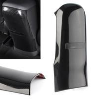 Caixa de apoio de braço do assento traseiro do carro anti-kick guarnição para toyota C-HR chr 2016 2017 2018 2019 abs plástico estilo fibra de carbono