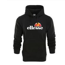 Casual Pullover Hooded Clothes Solid Color Regular Loose Hoodies Unisex Ellesse Tide Letter Printing Men Women
