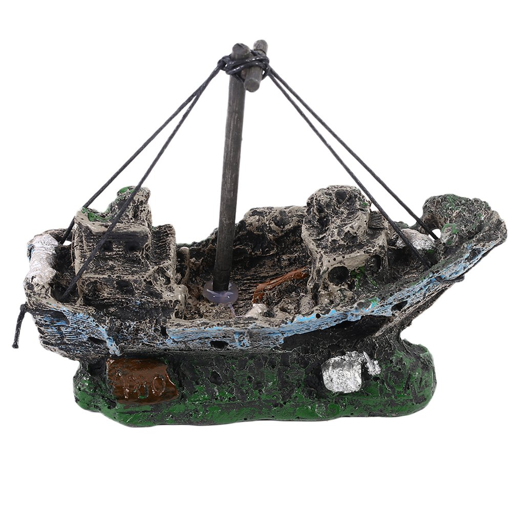Pirate Ships In Aquariums Aquarium Landscape Decoration Aquarium Accessories Fish Tank Aquarium Resin Boat Ornament
