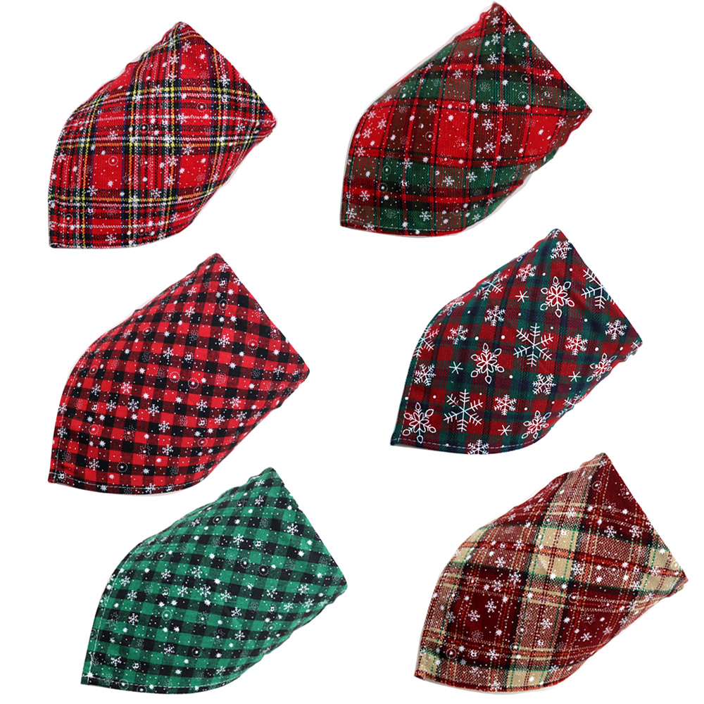 50pcs Christmas Dog Bandana Puppy Accessories Cotton Pet Dog Cat Bandanas Scarf Dogs Accessores for Samll Dog Grooming Products