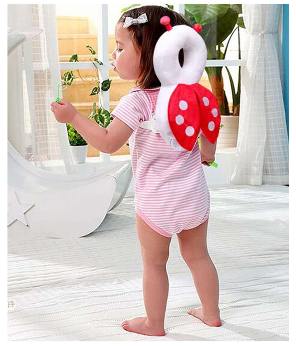 Baby Head Protection Pillow Baby Pillow Head Suppport Cartoon Cute Bee Angel Beetle Child Protection Backpack Mat
