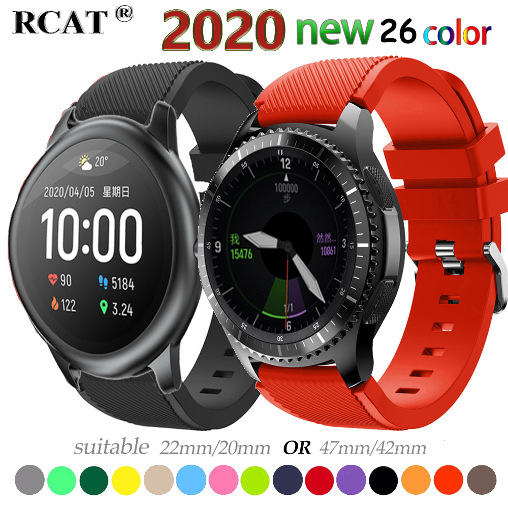 Strap For Samsung Galaxy watch 3 45mm/41/active 2 gear S3 Frontier/huawei watch gt 2e/2/amazfit bip/gts strap 20/22mm watch Band(China)