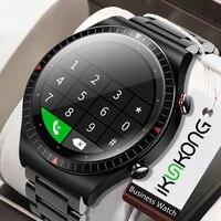 2021 שיחת Bluetooth חכם שעון גברים 4G זיכרון כרטיס מוסיקה נגן Smartwatch עבור אנדרואיד ios טלפון הקלטת ספורט כושר tracker