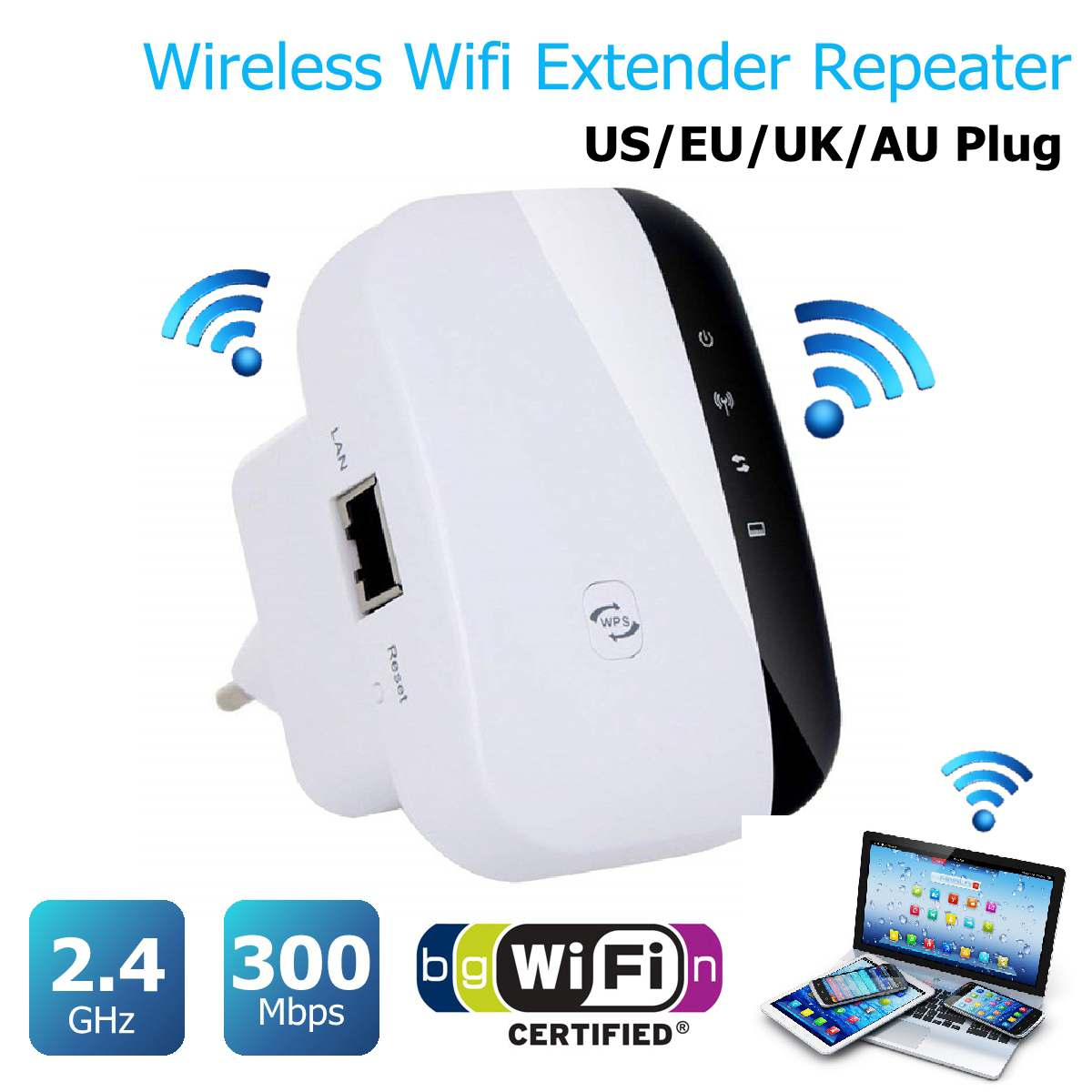 Bảng giá WiFi Repeater 300Mbps 2.4GHz 2 Ports Wireless Router Signal Booster Extender Mini Pocket Amplifier For Home Travel Phong Vũ