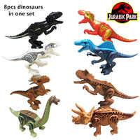 2019 neue Jurassic Welt 8 teile/satz Dinosaurier Bausteine Spinosaurus Baryonyx Kompatibel Bricks Montage Jungen Spielzeug Geschenke