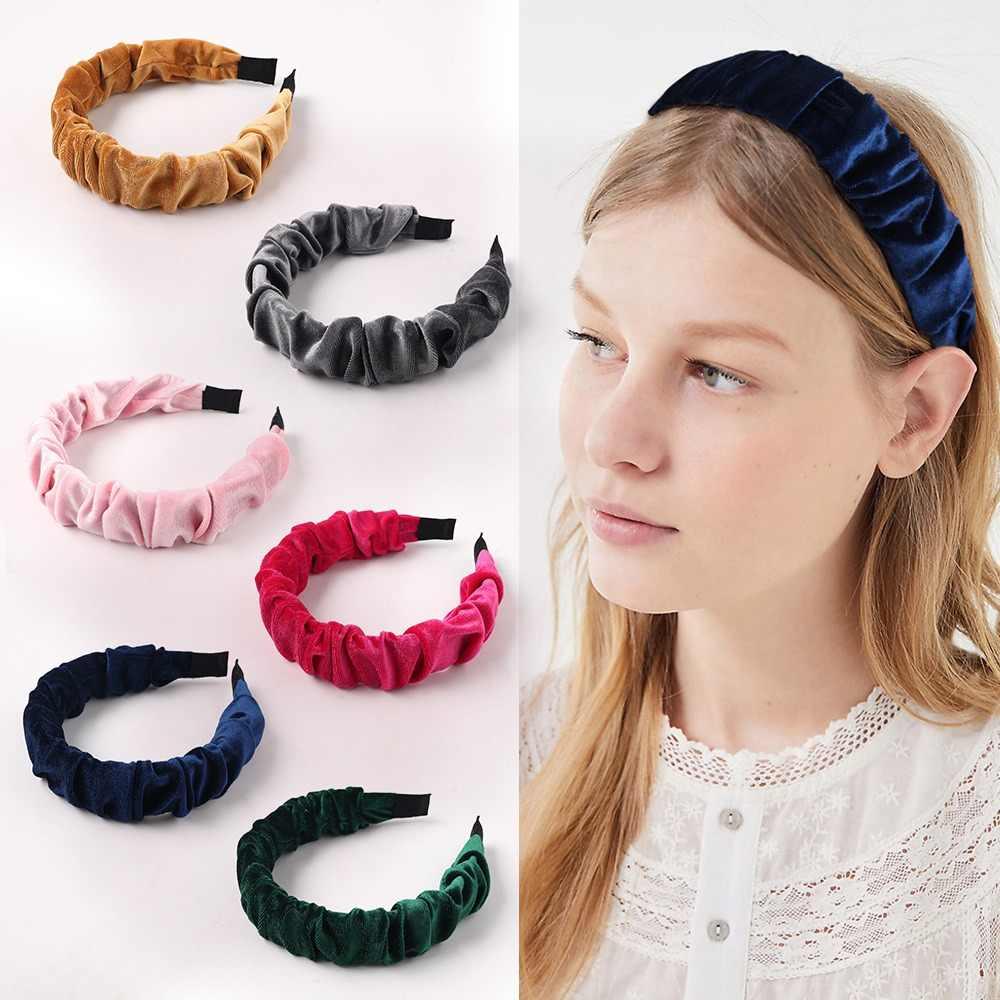 Lady Girl/'s Flower Headband Velvet Hairband Wide Hair Band Accessories Winter
