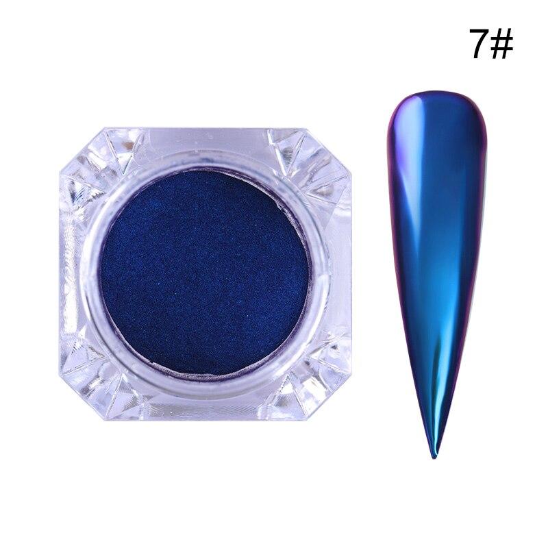 1 коробка жемчужный блеск для ногтей порошок зеркальный матовый эффект блеск Лазерная пыль Маникюр мерцающий пигмент украшение для ногтей - Цвет: 0.5g