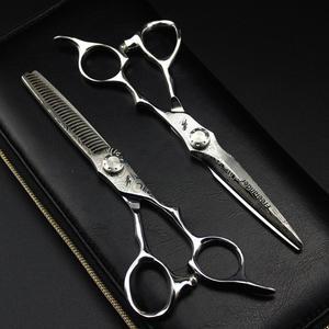 Image 2 - 6 inç satış japonya saç makas teflon makası şam kuaförlük makas kuaför İnceltme makas kuaför jilet saç kesimi