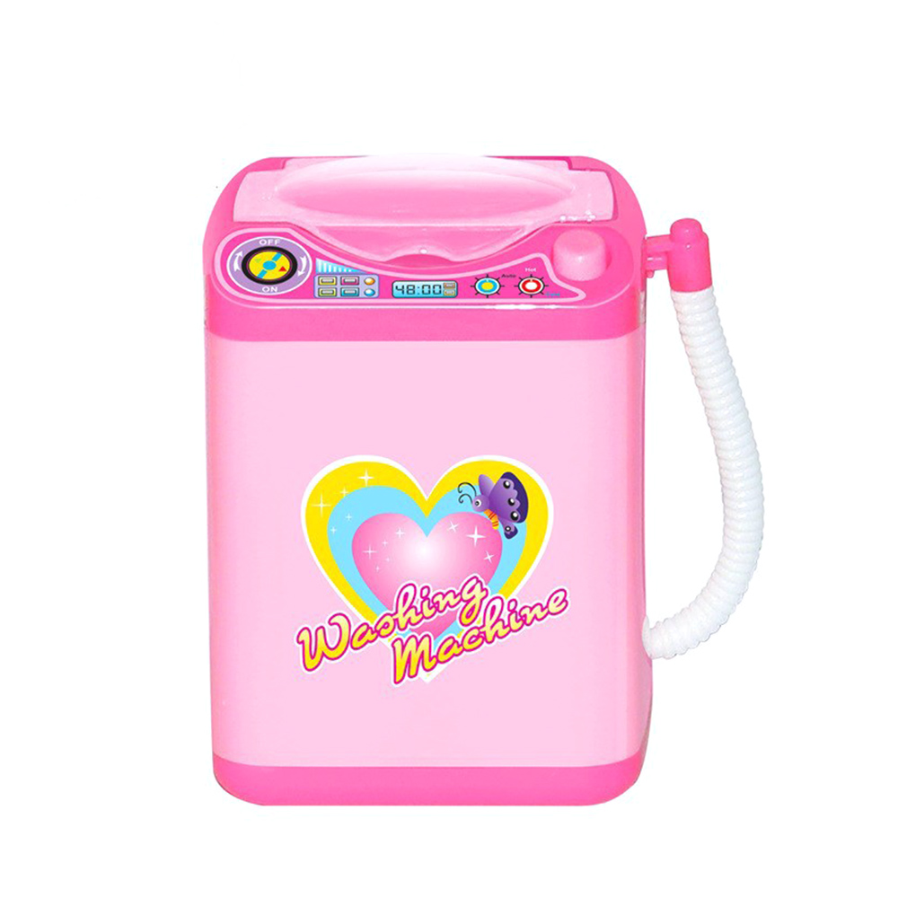 Mini Electric Washing Machine Kids Toys Pink 360 Rotation Makeup Brushes Cosmetic Beauty Tool Automatic Cleaning Washing Machine