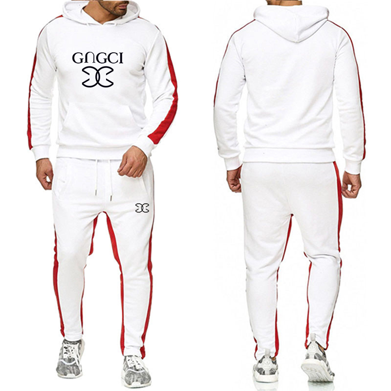 New GC letters Xia Qiu men and women suits fashion leisure sports round neck hat leisure sports men and women hoodies pants