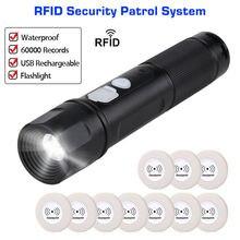 Анти-сломаны охранное устройство Системы палочка держателя карты с технологией радиочастотной идентификации в система патрулирования с фонарик патруль Регистраторы+ 10 шт. Rfid КПП