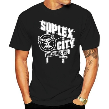 Funny Men t shirt white t-shirt tshirts Black tee Brock Lesnar Suplex City Welcomes You Authentic T-shirt image