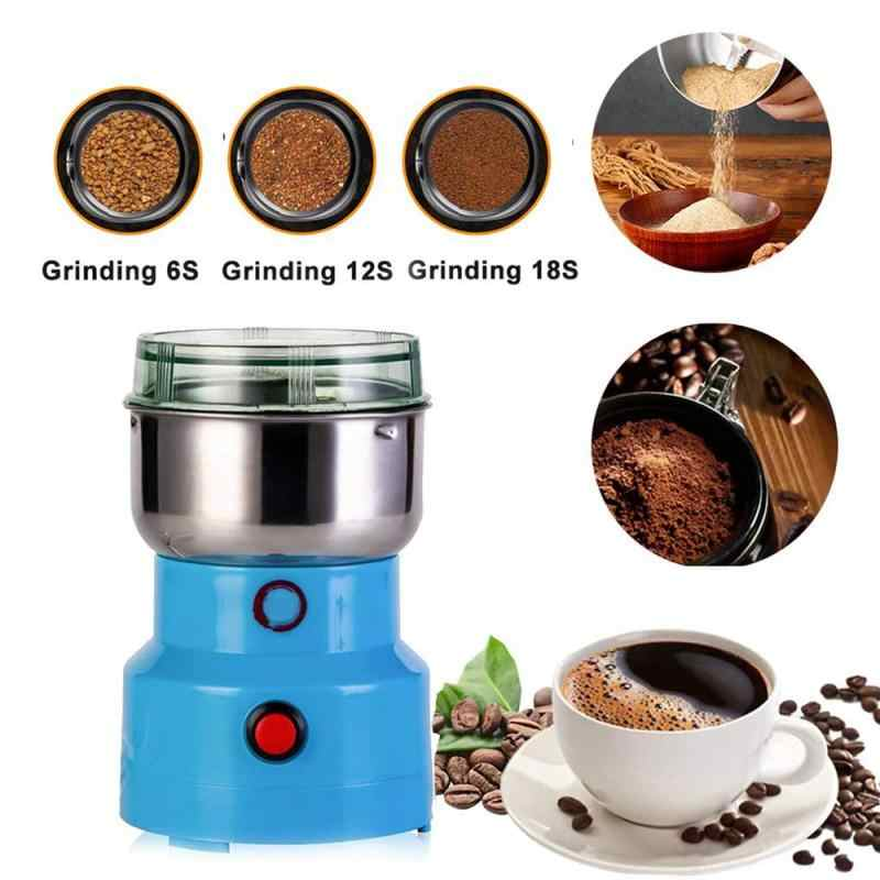 Electric Cereals Grain Grinder Blue Mill Spice Herb Grinding Machine Tool,Household Small Grinder,for Nut Coffee Bean Spice Grinding Blue and Silver Multifunction Smash Machine,Coffee Bean Grinder