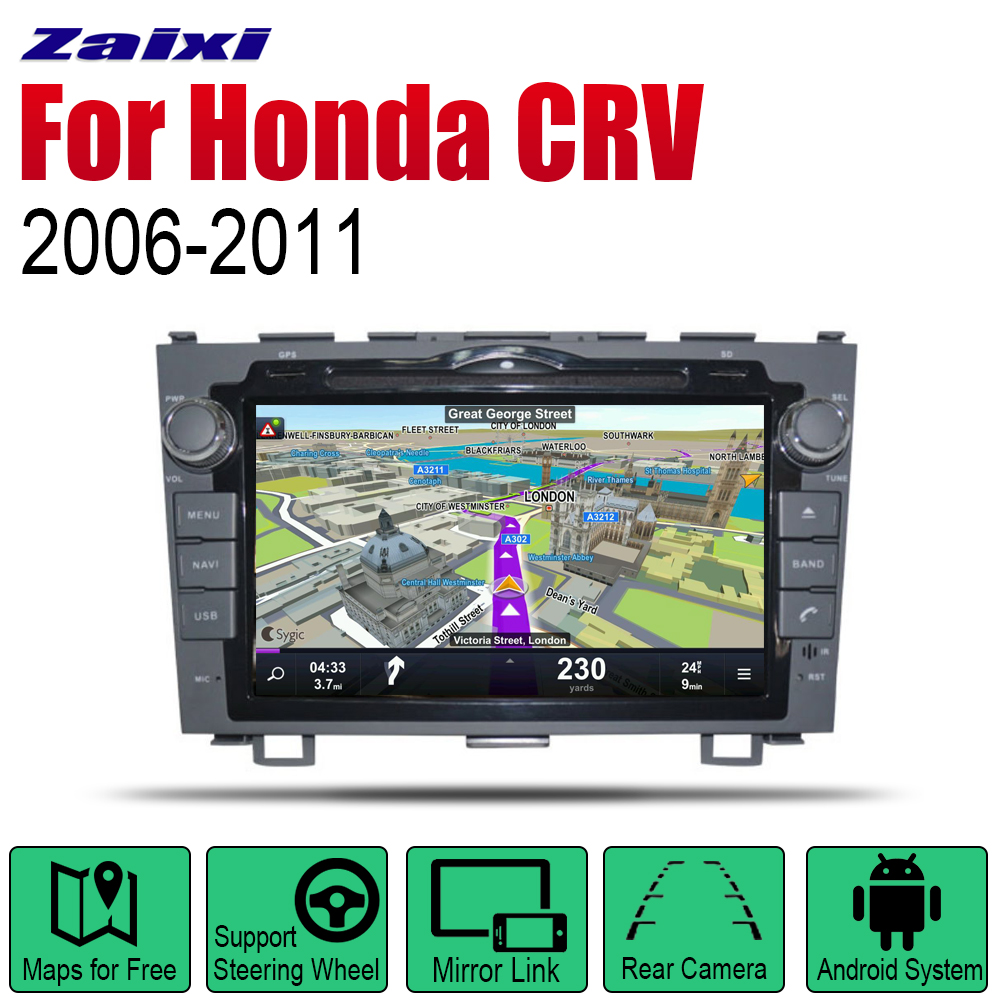 Android Car Radio Stereo <font><b>GPS</b></font> Navigation For <font><b>Honda</b></font> <font><b>CRV</b></font> 2006 <font><b>2007</b></font> 2008 2009 2010 2011 wifi 2din Car Radio Stereo Multimedia Player image