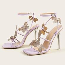 Сандалии женские с ремешком на щиколотке модные туфли лодочки