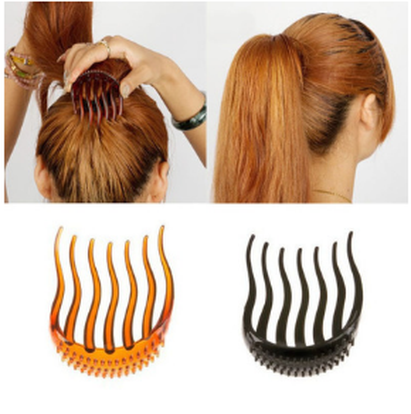 1PC Lady Girl Tools Volume Inserts Hair Clip Hairpins Bouffant Ponytail Comb Grips Headwear Ornaments Accessories For Woman
