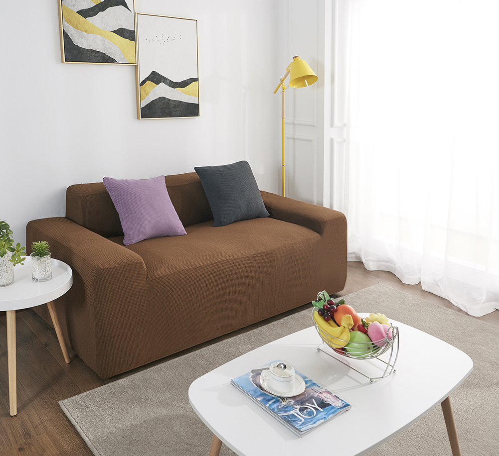 MEIJUNER Waterproof Sofa Cover in Solid Color with High Stretchable Slipcover for Dining Room 17