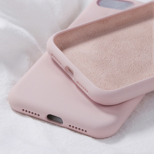 Luxury Original Liquid Silicone Case For Apple iPhone 11 Pro Max 7 8 6 6S Plus XR X XS MAX 5 5S SE 11 Case Shockproof Back Cover(China)