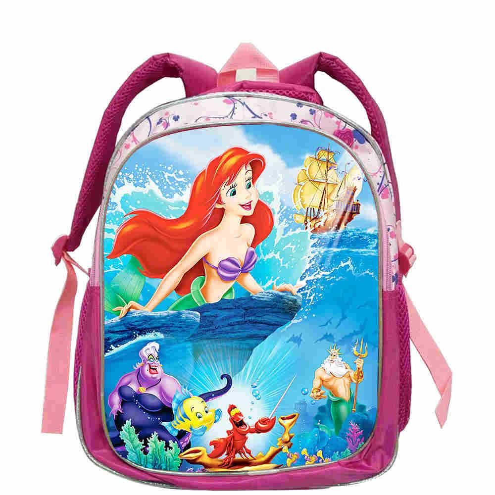 The Little Mermaid Ariel Backpack Pink Princess Kids School Bag Fairy Tale Lovely Schoolbag Book Bags For Girls Mochila Bolsa