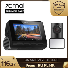 Real 70mai 4K A800S Dash Cam 2021 Car DVR Rear Cam A800 Set Built in GPS ADAS UHD Image SONY IMX415 140FOV 24H Parking Monitor
