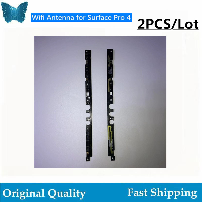 2 Pcs/lot Original WiFi Antenna Flex Cable X939879 X939878 For Surface Pro 4 1724 WiFi Antenna With Plastic Bar