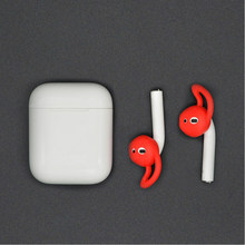 Multi-color for Airpods 2 Bluetooth Wireless Headset Ear Cap Non-slip Silicone In-ear Earbuds Anti-lost Silicone Earbuds/single(China)