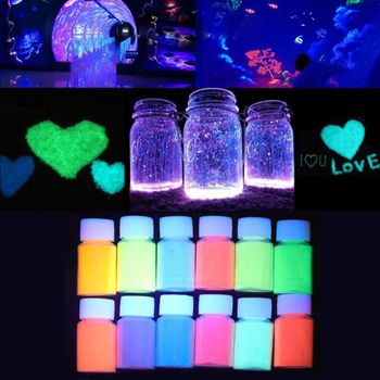 12 Color 20g Luminous Resin Pigment Kit Glow In the Dark Powder Pigment Colorant Dye Fluorescent Resin Jewelry Making uv reactive glow in the dark pigment powder long afterglow yellow green invisible white 1000 g with maximum brightness